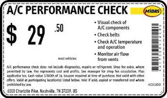 A/C Performance Check Coupon
